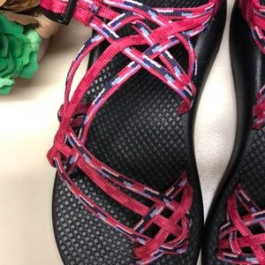 Chaco Shoes - Chaco ZX/3 Pink 3 Strap Sandals Size 9
